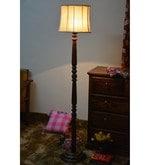 Beige Khadi Floor Lamp