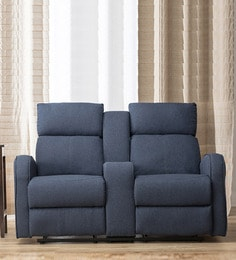 Gilbert Two Seater Recliner In Blue Colour
