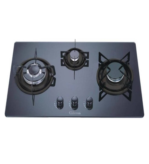 Buy Gilma 3 Burner Glass Hob Online - Hobs - Cooktops - Pepperfry