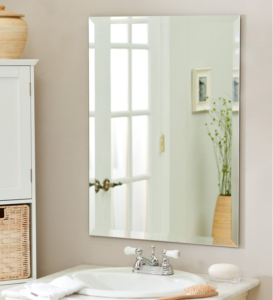 Buy Glass Rectangle Wall Mirror In Transparent Colour By Elegant Arts Frames Online Wall Mirrors Wall Accents Home Decor Pepperfry Product
