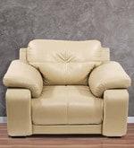 Gloria One Seater Sofa in Beige Colour