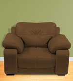 Gloria One Seater Sofa in Chocolate Brown Color