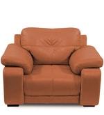 Gloria Single Seater Sofa in Tan Color