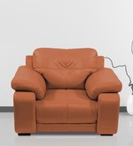 Gloria Single Seater Sofa in Tan Color