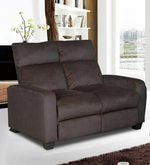Gloria Two Seater Manual Recliner in Chocolate Brown Colour