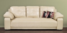 Gloria Three Seater Sofa in Beige Colour