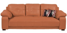 Gloria Three Seater Sofa in Tan Color