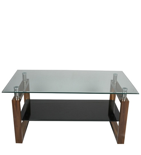 Buy Wooden Glass Center Table By Suvika Lifestyle Online