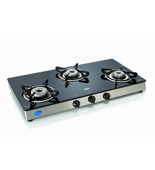 4eea8e9d0 Glen GL 1038 GT 3 Burners Glass Manual Gas Stove Best Deals With ...