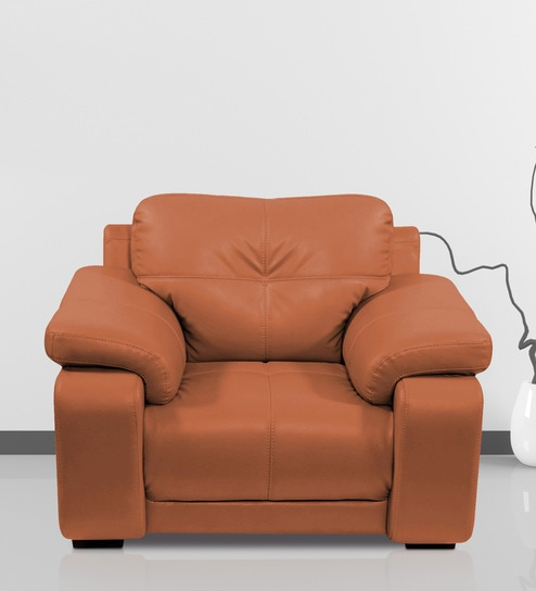 Gloria Single Seater Sofa In Tan Color By Home City