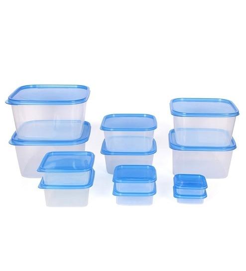 Gluman Blue Splash Plastic Kitchen Storage Container Set 12 Pieces
