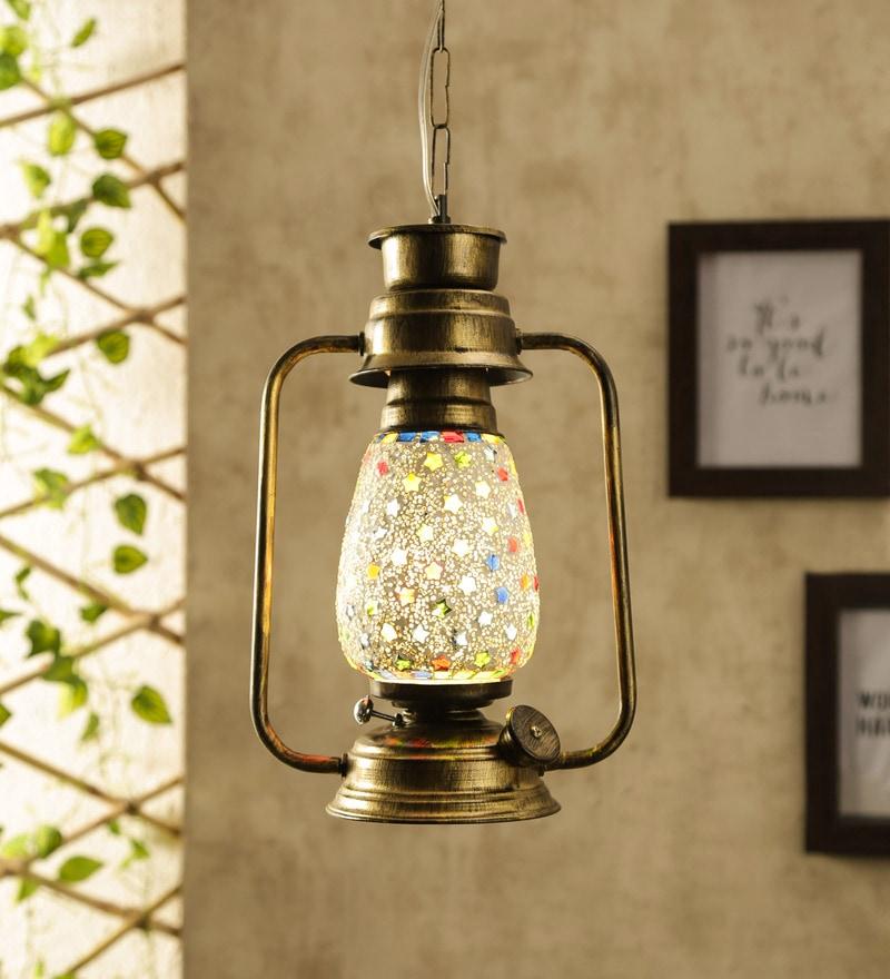 Glass Multicolour Hanging Light - 1705551