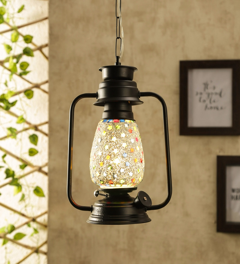 Glass Multicolour Hanging Light - 1705547
