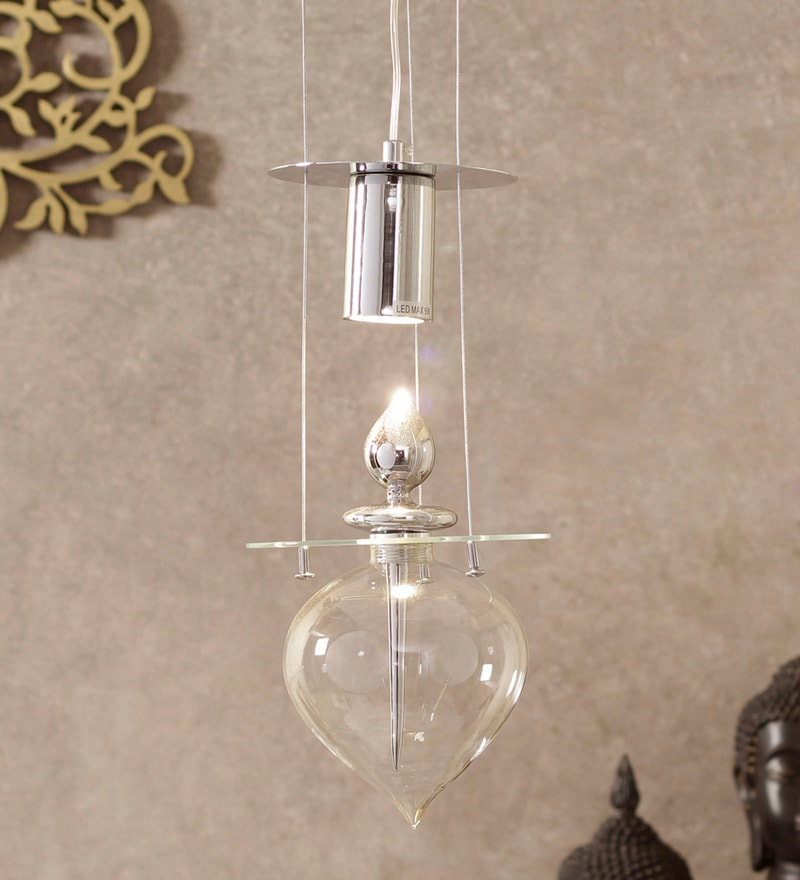 Glass Parfum Pendant Lamp by Jainsons Emporio