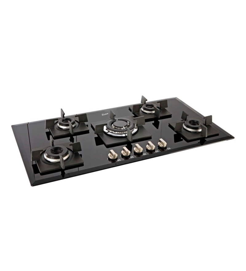 Glen GL1095 IN Toughened Glass 5-burner Built-in Auto Ignition Hob