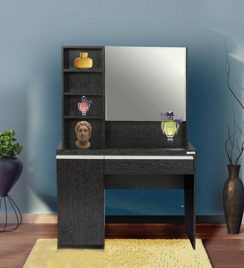 Buy Gloriosa Dressing Cum Study Table In Wenge Colour By