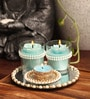 Blue Candle Set by Candles N Beyond