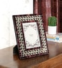 Ethnic Clock Makers Multicolour Solid Wood 9 x 1 x 11 Inch Glass Inlay Photo Frame