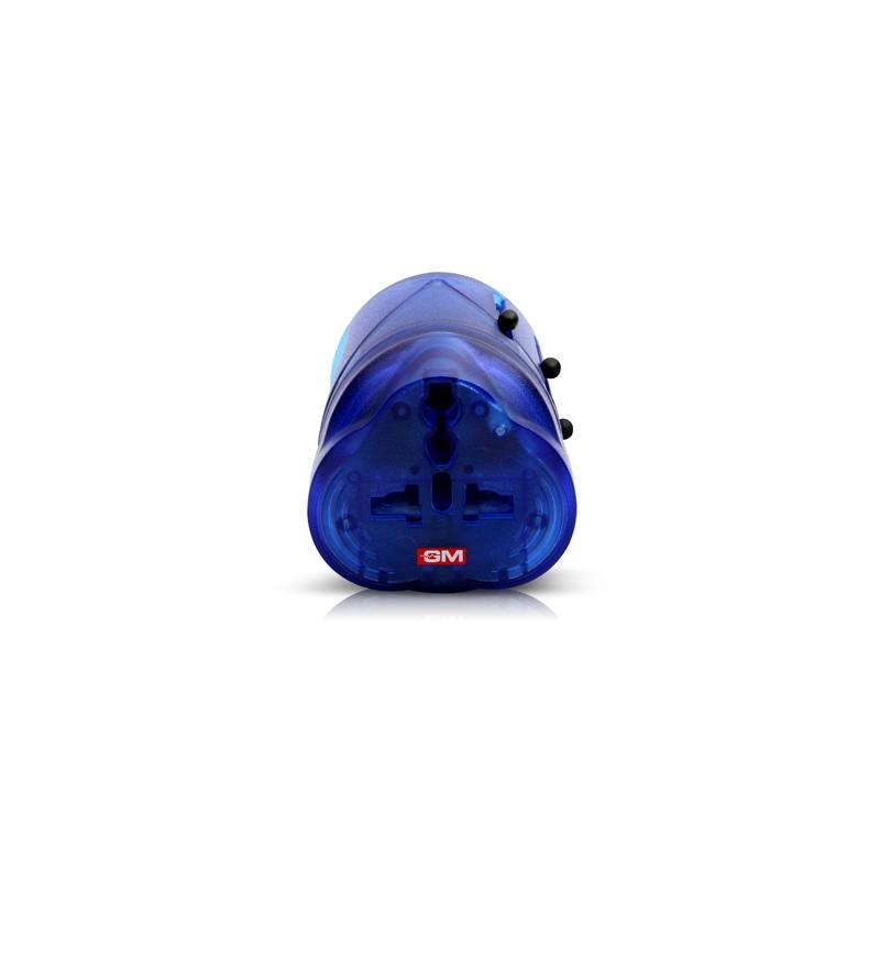 GM Blue 4.3 x 2.2 x 6.9 Inch World Travel Adaptor