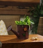 Brown Watering Can/Planter