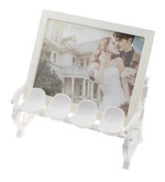 White ABS Plastic Personalised Garden Chair Photo frame