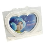 White ABS Plastic Personalised Heart Photo frame