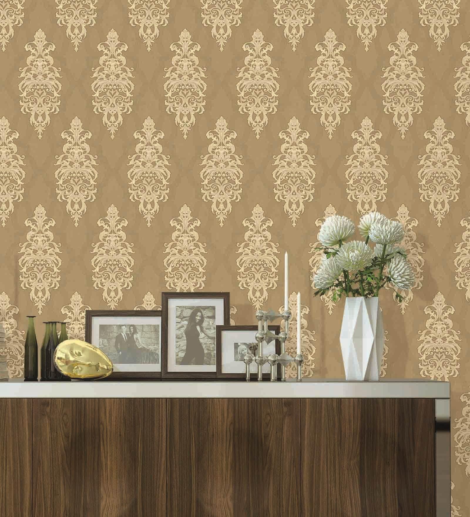 Golden PVC 394 x 21 Inch Wallpaper by Presto