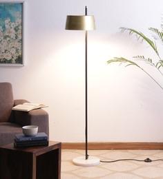 Gold & Black Iron Floor Lamp