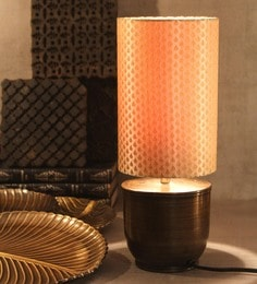 Gold Fabric Antique Table Lamp