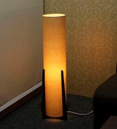 Floor lamps buy designer floor lamps online in india at best gold fabric floor lamp aloadofball Gallery