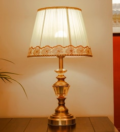 Gold Glass & Mild Steel Endrita Table Lamp