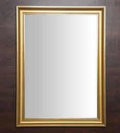 Golden Fibre Framed Decorative Wall Mirror - 1657808