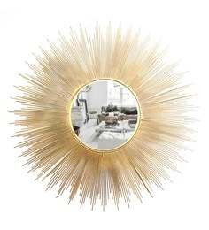 Golden Glass And Metal Corbis Wall Mirror