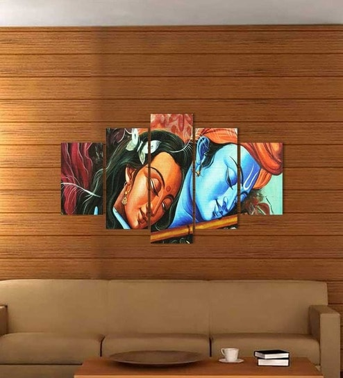 Go Hooked 5 Panel Radha Krishna Wall Decor & Buy Go Hooked 5 Panel Radha Krishna Wall Decor Online - Spiritual ...