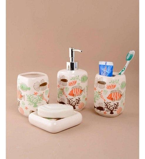 Go Hooked Designer Fish Pattern Bathroom Set