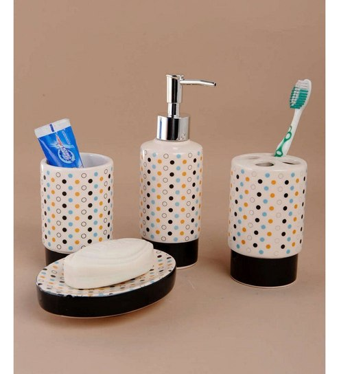 Buy Go Hooked Stainless Steel Bathroom Set Online - Accessories Sets ...