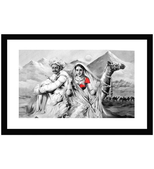Buy Go Hooked Rajasthani Folk Art Print -With Frame Online - Nature ...