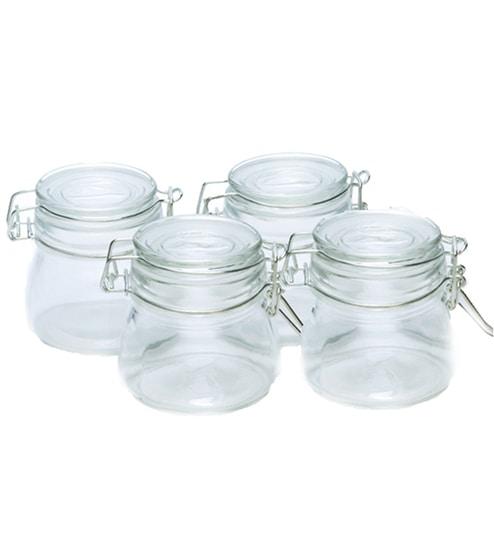 Godskitchen Air Tight Cylindrical 200 ML Multi-Purpose Jar - Set of 4