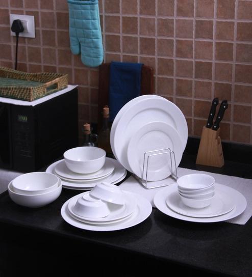 Bone China Dinner Set   Set Of 21 By Godskitchen