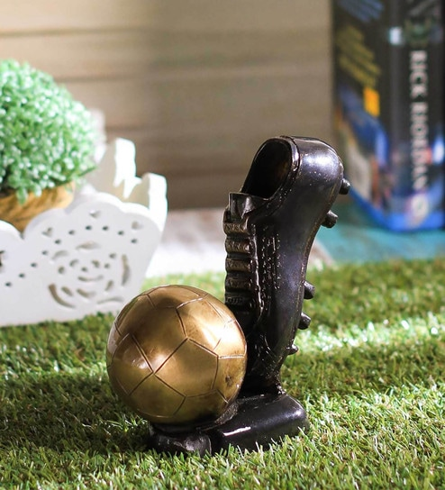 ca92d76a4 Buy Gold Brass Decorative Soccer Ball and Shoe Tableware by Ecraftindia  Online - Collectibles - Collectibles - Curios & Showpieces - Pepperfry  Product
