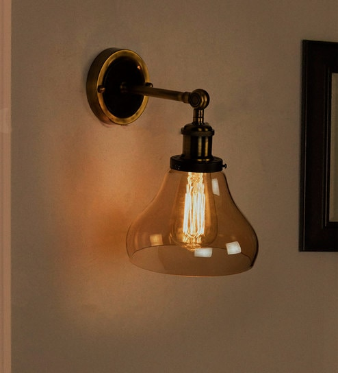 Gold Br Small Bell Wall Sconce By Fos Lighting