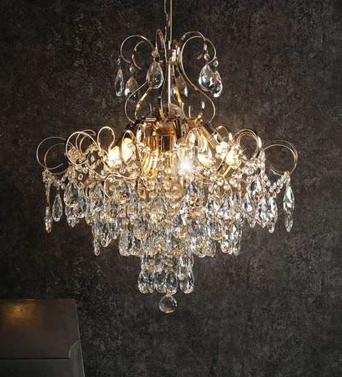 timeless design ee384 61e75 Gold Crystal Chandelier By Stello