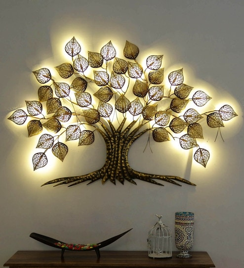 brand new a8e66 c3919 Gold Iron Big Led Tree By Sugandha