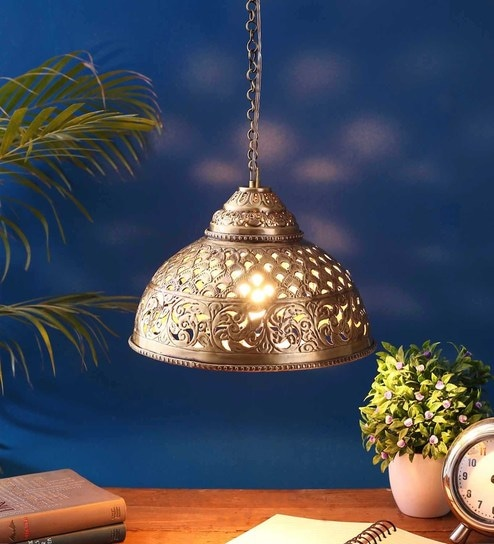 2a60e3a96022 Buy Gold Metal Hanging Light by Astral Online - Contemporary Hanging Lights  - Hanging Lights - Lamps & Lighting - Pepperfry Product