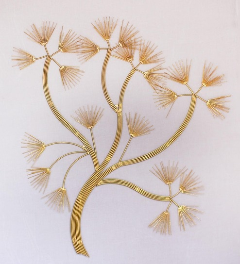 Buy Gold Metal Tree of Life Wall Hanging by Craftter Online - Metal ...