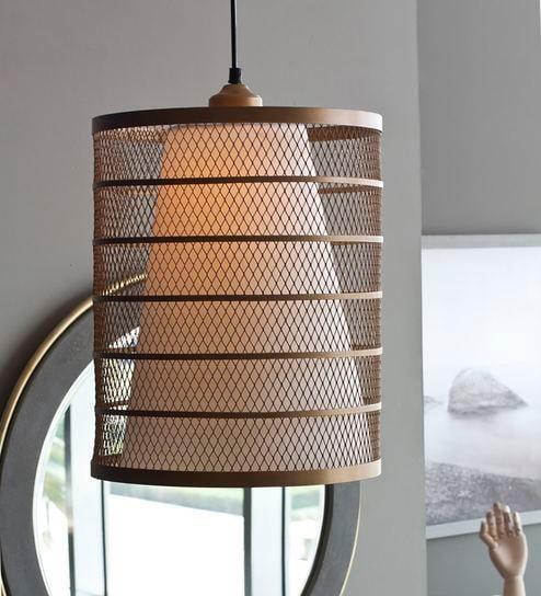 Gold Mild Steel Roma Hanging Lamp