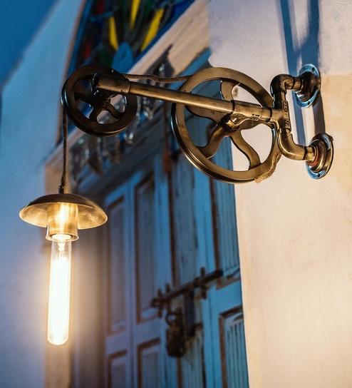 Golden Barn Pulley Wall Light By Fos Lighting