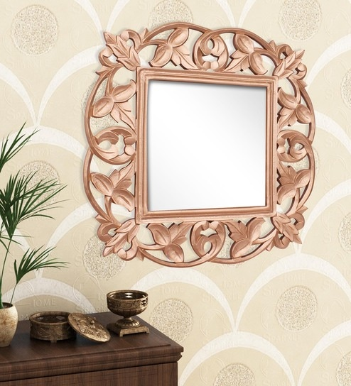 wood wall mirrors. Golden Engineered Wood Wall Mirror By Home Sparkle Mirrors