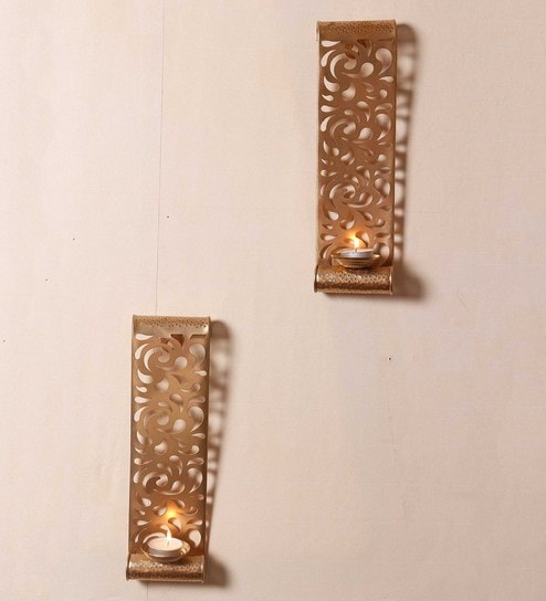 Golden Metal Wall Sconces