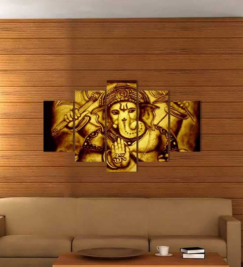 Buy go hooked 5 panel ganesha wall decor online for Online purchase home decor items